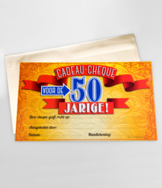 Cadeau-cheque 50 JAAR! (18PD)