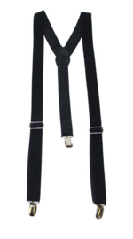 Bretel Zwart 2,5 cm breed (60484E)