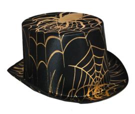Hoge hoed spinnenweb goud (63432E)