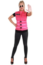 S.O. W.H.A.T vest pink dames one size (04407P)