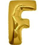 Folie Letter F - 100 cm Goud