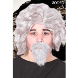 Snor + baard professor Grijs (20070P)