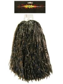 Pom pom cheerleader zwart (84689P)