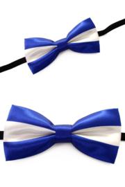 Vlinderstrik Blauw-Wit luxe (14337P)