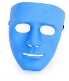 Masker met serieuze blik - Blauw (34840P)