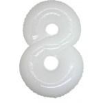 Folie Cijfer 8 - 100 cm Wit