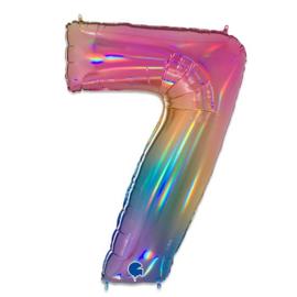 Folie Cijfer 7 - 100 cm Regenboog