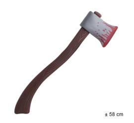 Bijl met bloed - 58 cm (74937E)