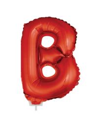 Folie Letter B - 41 cm Rood (met stokje)
