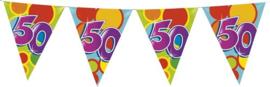 Vlaggenlijn ballonnen leeftijd 50 jaar (10 meter)