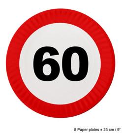 Bordjes verkeersbord 60 jaar (84619E)