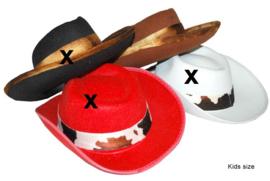 Cowboyhoed bruin met band Kind (50364E)