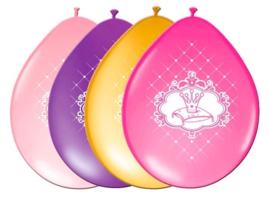 Ballonnen Prinsesjes - 6 stuks (61955F)