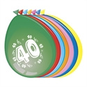 Ballonnen 40 jaar (30cm, 8 stuks)