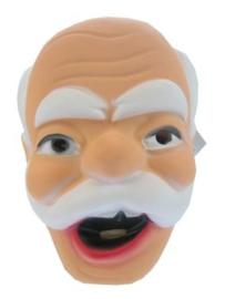 Masker oude man - witte haren en snor  (34133P)