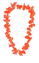 Hawaii krans / slinger bont neon oranje (80048E)