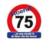 Huldeschild verkeersbord 75 jaar