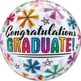 Bubble Congratulations Graduate & Stars (47364Q)