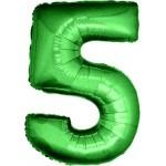 Folie Cijfer 5 - 100 cm Groen