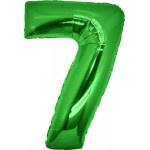 Folie Cijfer 7 - 100 cm Groen