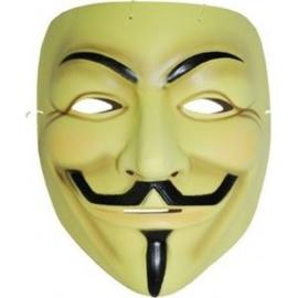 Masker Anonymous geel - kunststof (6000GF)