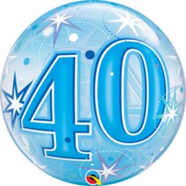 Bubble 40 jaar - Blue Starburst Sparkle  (48445Q)