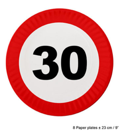 Bordjes verkeersbord 30 jaar (84610E)