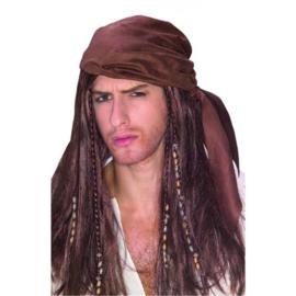 Pruik met bandana Piraat (07066R)