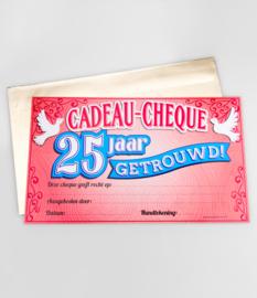 Cadeau-cheque 25 JAAR GETROUWD (29PD)