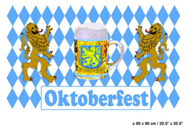 Vlag Oktoberfest / Bierpul -  90 x 150 cm (62496E)