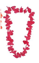 Hawaii  krans / slinger bont neon roze (80048E)
