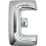 Folie Letter E - 100 cm Zilver