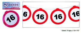 Vlaggenlijn / slinger 16 Verkeersbord - 12  meter (84966E)