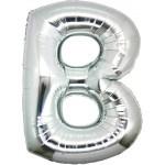Folie Letter B - 100 cm Zilver