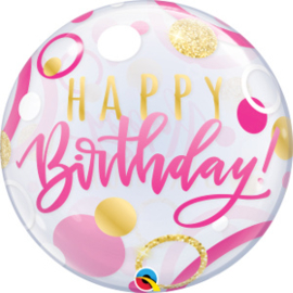 Bubble Birthday Pink & Gold Dots (87745Q)