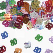 Tafelconfetti - sierconfetti - 80 jaar (05321F)