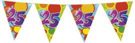 Vlaggenlijn ballonnen leeftijd 25 jaar (10 meter)