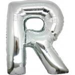 Folie Letter R - 100 cm Zilver