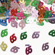Tafelconfetti - sierconfetti - 65 jaar (05318F)
