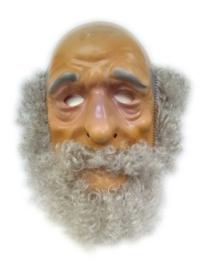 Masker oudere man - grijze haren (34259P)