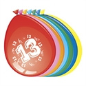 Ballonnen 13 jaar (30cm, 8 stuks)