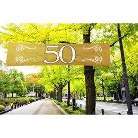 Banner / spandoek Jubileum 50 jaar - 180 x 40 cm (21492F)