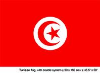 Vlag Tunesië - 90 x 150 cm (62593E)