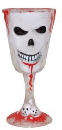 Halloween drinkbeker (wit) geraamte (74649E)