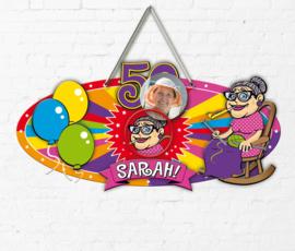 Deurbord / huldeschild Sarah Luxe (22461F)