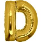 Folie Letter D - 100 cm Goud