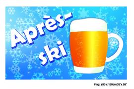 Vlag Apres ski -  90 x 150 cm (84241E)