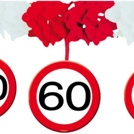 Slinger met onderhanger verkeersbord 60 jaar (05235F)