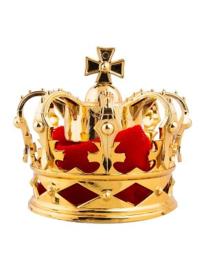 Kroontje koning goud met haarclips (53837E)