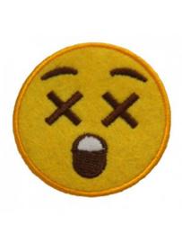 Strijkapplicatie Smiley Geschrokken (0005H)